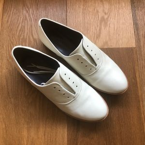 Zadig & Voltaire cream leather shoes